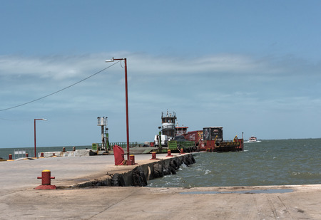 Ferries from Chiquila to Holbox at the harbor of Chiquila, Quintana Roo, Mexico