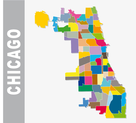chicago co-operative neighborhood vector map