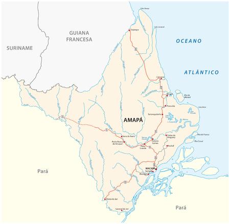 amapa road vector map