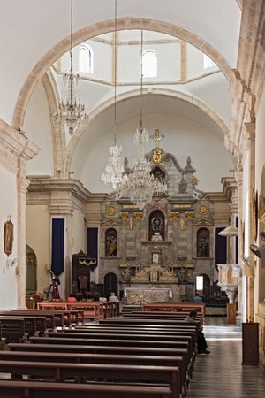 inside our lady of the immaculate conception, cathedral in campeche, mexico