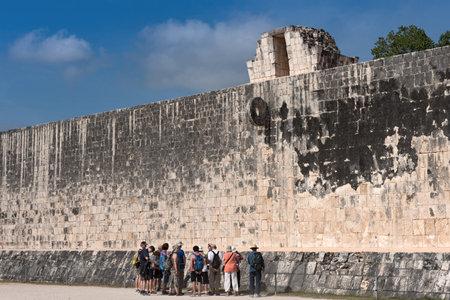 ruins, pyramid and temples  in Chichen Itza, Yucatan, Mexico.