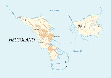 helgoland, heligoland, germany vector map. Stock Illustratie