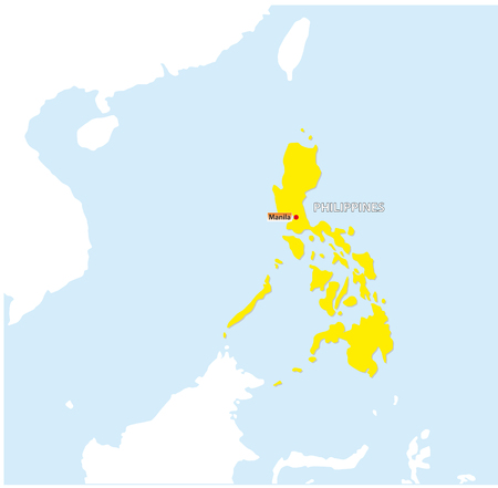 the philippines vector map with capital manila.