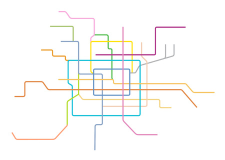 Vector Illustration Of The Beijing Subway Map China Royalty Free