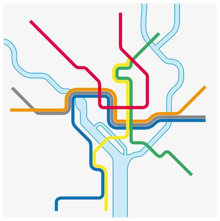 Mapa del metro de Washington DC, Estados Unidos