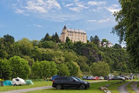 castle schadeck in runkel lahn river hesse germany Redactioneel