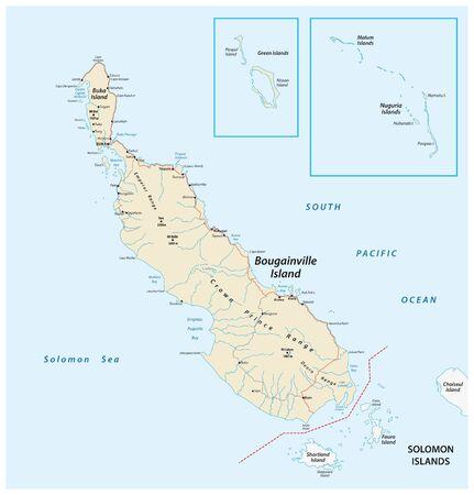 vector map of the Autonomous Region of Bougainville, Papua New Guinea