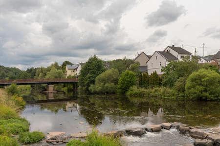 The Nahe river in Nohen Hunsrück, Rhineland Palatinate, Germany