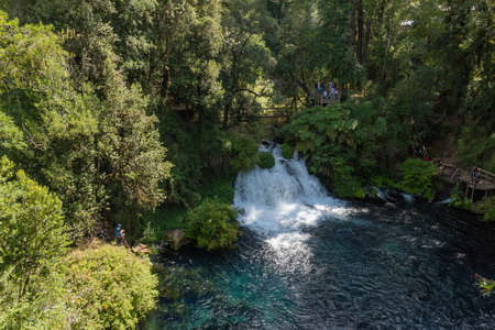 The waterfalls of Caburgua Eyes, Pucon, Chile