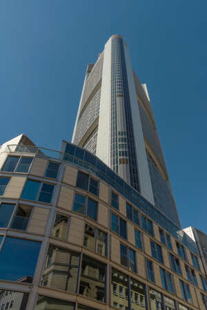 The Commerzbank Tower by architect Norman Foster, Frankfurt, Germany
