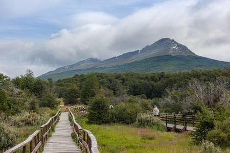 Landscape of the Tierra del Fuego National Park, Argentina Foto de archivo