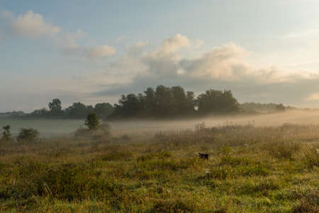 Morning mood on an early autumn day in the Uckermark, Germany Foto de archivo