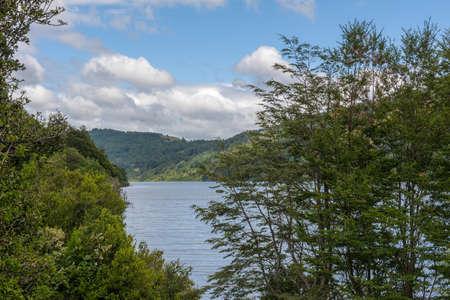 Tinquilco Lake in Huerquehue National Park, Pucon, Chile Foto de archivo