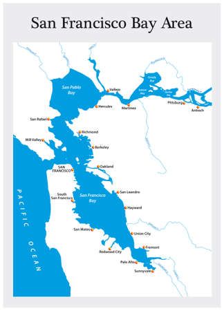 small general map of California's San Francisco Bay Area