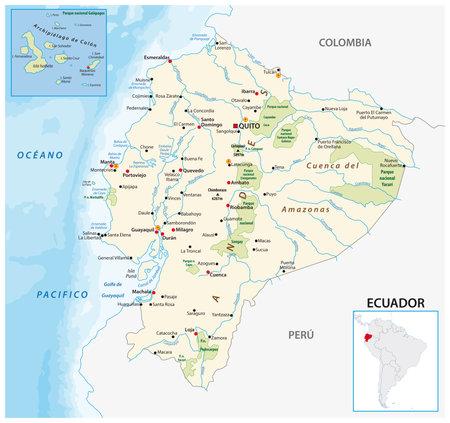 vector map of the republic of ecuador