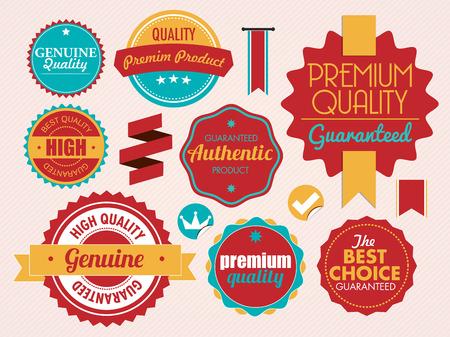 set of vintage sale and promotion badges, vector illustration Ilustrace