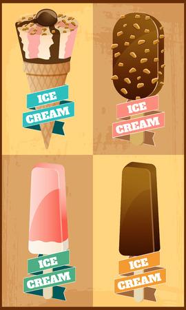 vector ice cream Illustration