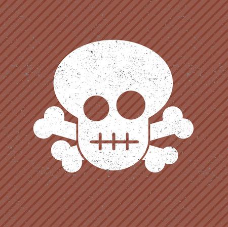 skull icon: vector grunge skull icon