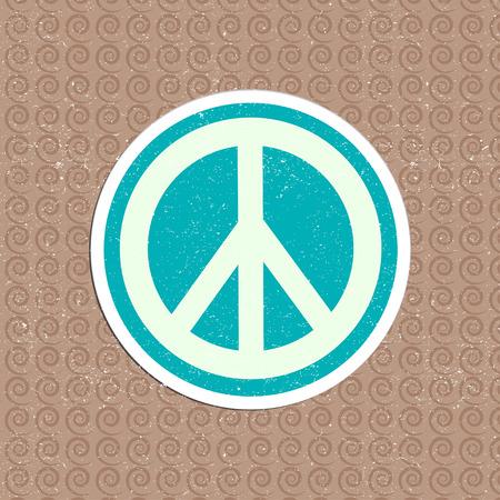 simbolo de la paz: etiqueta vector de la paz de la vendimia Vectores