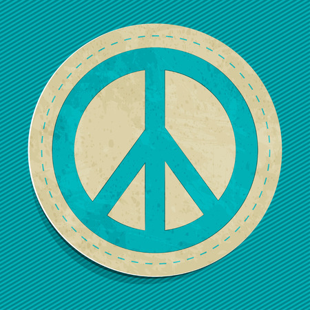vector peace sticker Illustration
