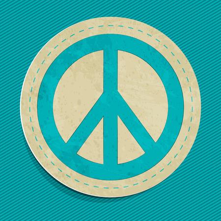 tolerance: vector peace sticker Illustration
