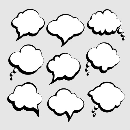 medium group of people: Set of vector speech bubbles Illustration