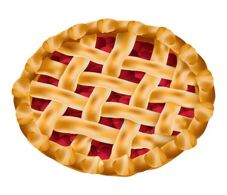 vector heerlijke cherry pie
