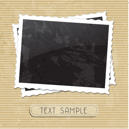 torn paper background: vintage photo template Illustration