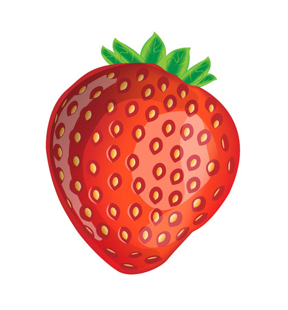 vector delicious strawberry Vector