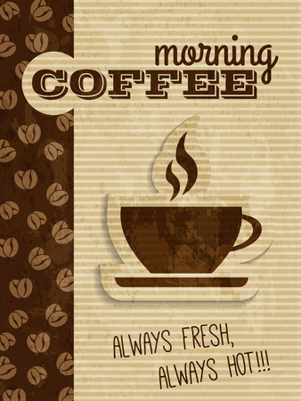 brewing house: vector vintage coffee house poster
