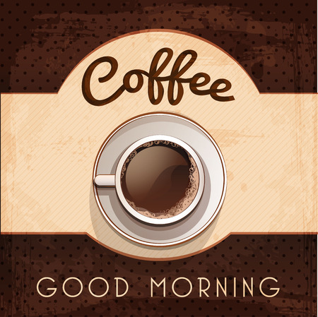 vector vintage coffee poster Ilustrace