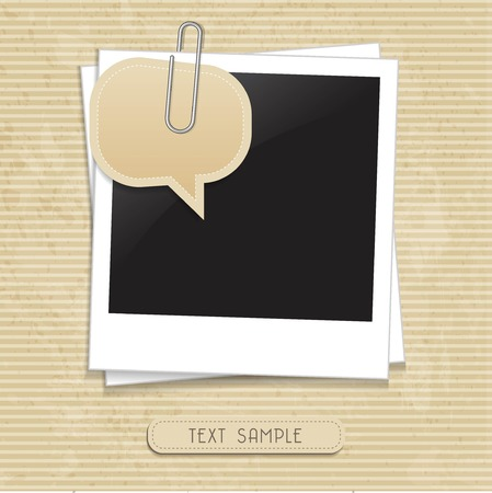 vector photo with speech bubble Ilustrace