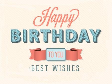 auguri di buon compleanno: Buon compleanno carta Vettoriali