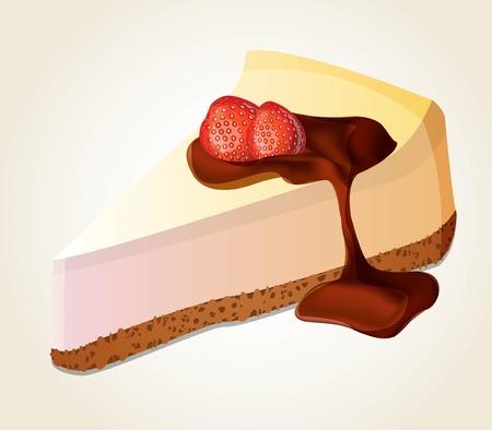 vector delicious cheesecake