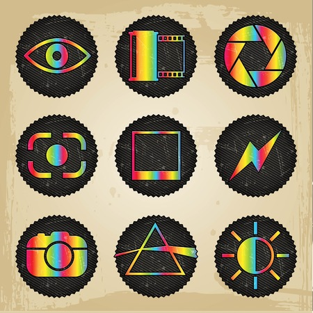 formats: vector psychedelic photography icons