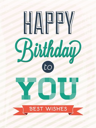 happy birthday heart shapes: Card Happy Birthday to you - Illustration