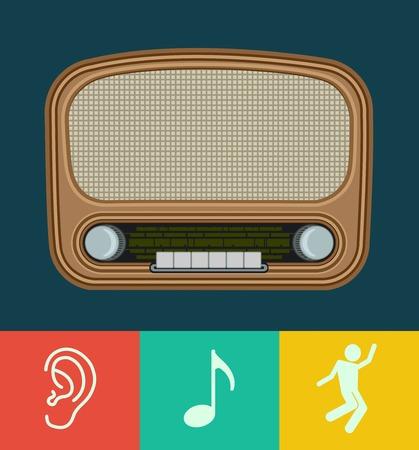old radio: vector old radio