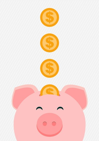 money in the bank: vector piggy bank Illustration