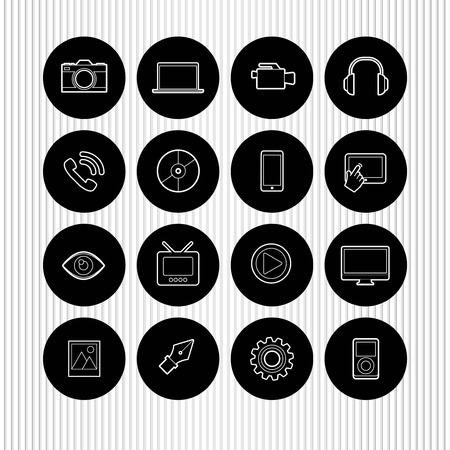 icone multimediali: vector multimedia icons