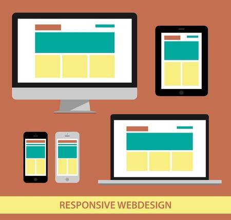 responsive web design illustrarion