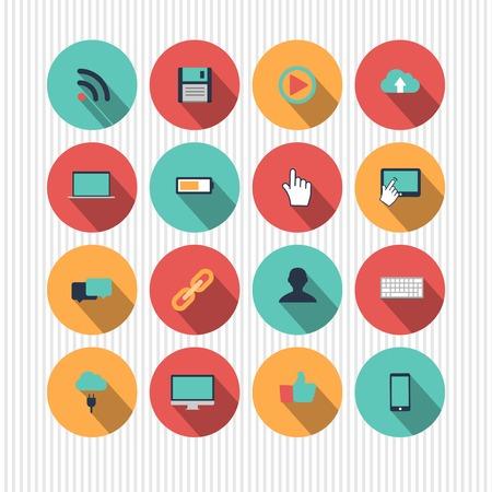 tecnologia: icone di tecnologia vettoriale