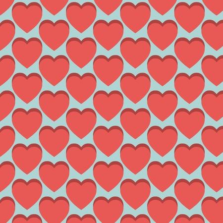 vector hearts: vector hearts pattern