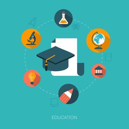 assimilation: modern vector education concept illustration