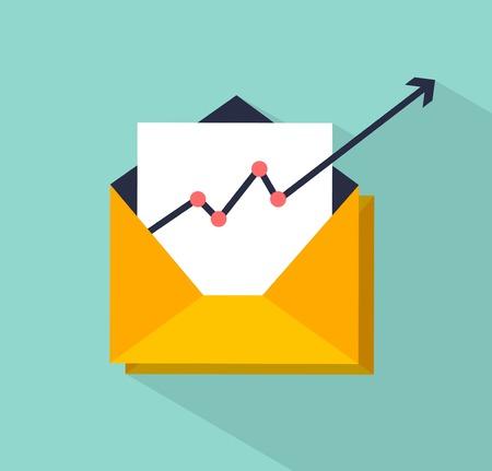 correo electronico: vector concepto de marketing de correo electr�nico ilustraci�n