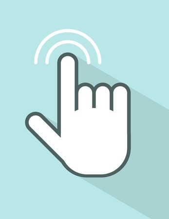 swipe: vector hand touching screen