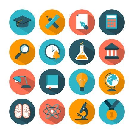 soumis: série d'icônes de l'éducation vecteur modernes