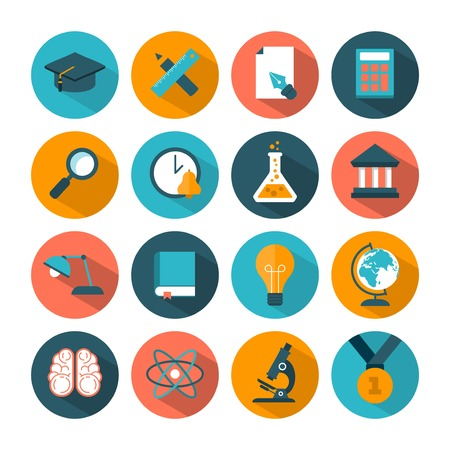 set of modern vector education icons Vector