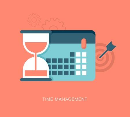 gestion del tiempo: ilustraci�n vectorial moderna gesti�n del tiempo
