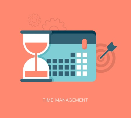 sands of time: modern vector time management illustration Illustration
