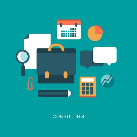 consulting services: modern vector consulting concept illustration
